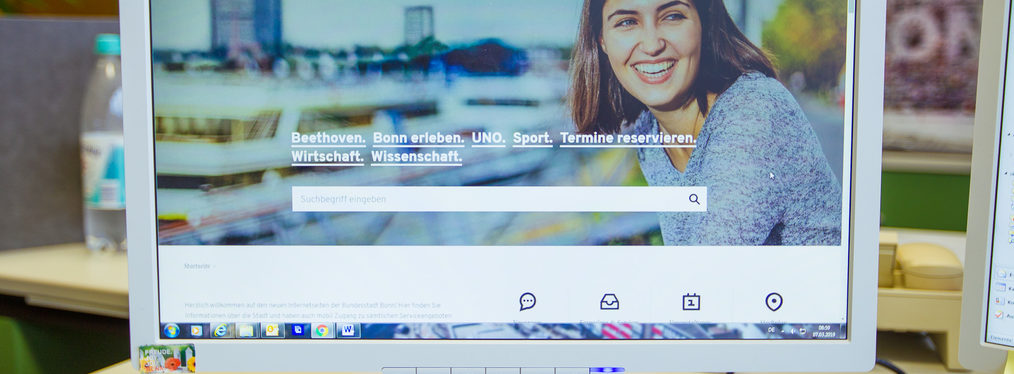 Screenshot der www.bonn.de